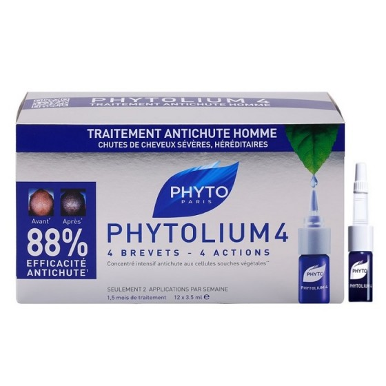 PHYTOlium 4 / ФИТО Фитолиум 4 Серум срещу обилен и постоянен косопад 12 бр ампули