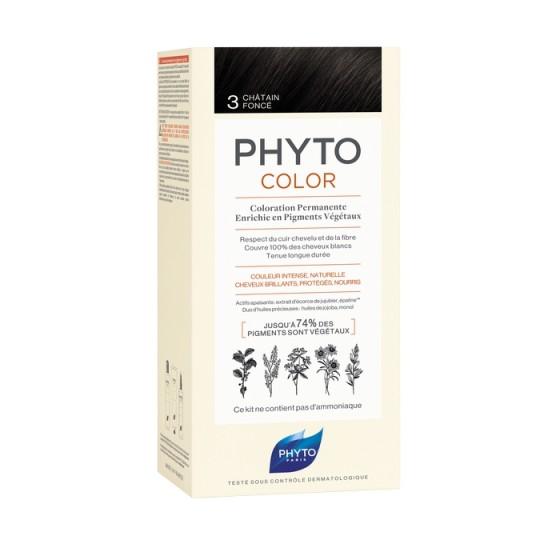 PHYTOcolor / ФИТО Боя за коса 3 Тъмен кестен