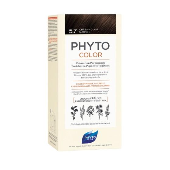 PHYTOcolor / ФИТО Боя за коса 5.7 Светъл кафяв кестен
