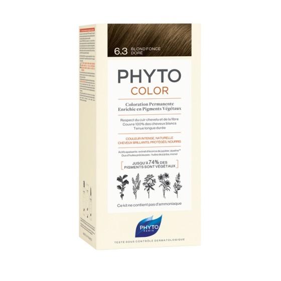 PHYTOcolor / ФИТО Боя за коса 6.3 Тъмно златисто русо