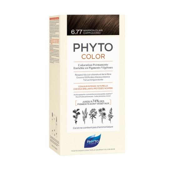 PHYTOcolor / ФИТО Боя за коса 6.77 светло кестеняво капучино