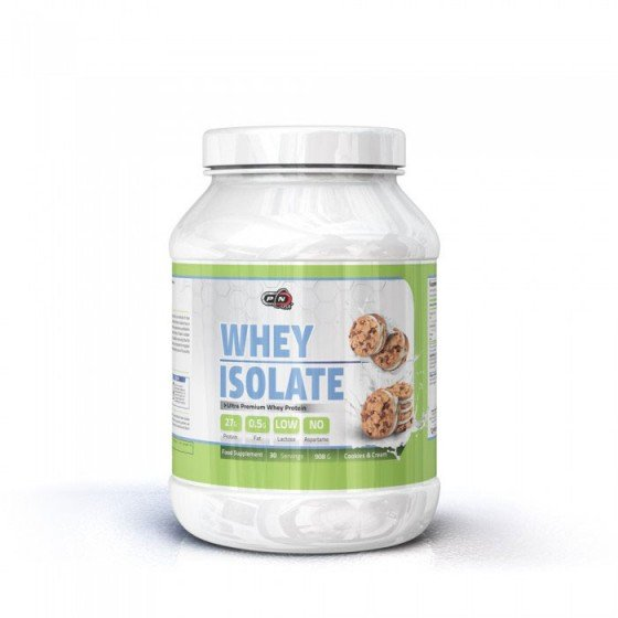 PURE NUTRITION Whey Isolate Cookies and Cream суроватъчен протеин изолат 908 г