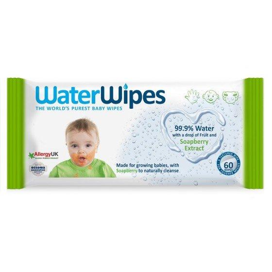 Water Wipes Soapberry почистващи бебешки кърпички с 99.9% вода и екстракт от сапунено орехче 60 бр.