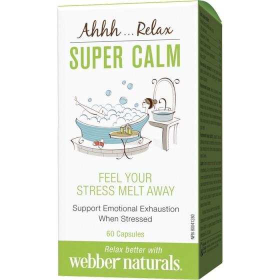 WEBBER NATURALS / УЕБЪР НАТУРАЛС Super Calm капсули за ментално и физическо спокойствие 60 капсули