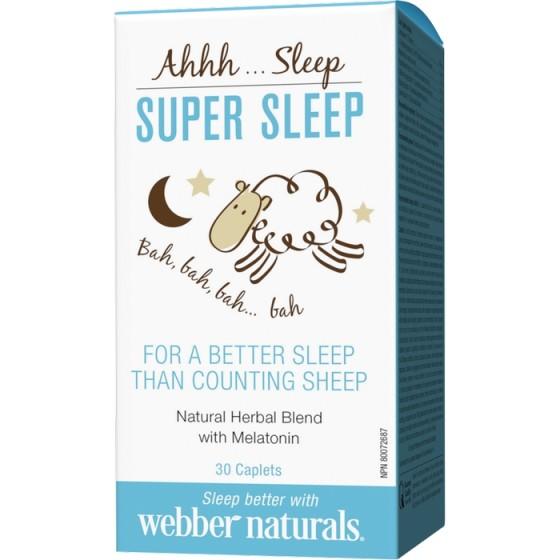 WEBBER NATURALS / УЕБЪР НАТУРАЛС Super Sleep билкова формула за спокоен сън 30 каплети