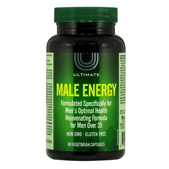 ULTIMATE Male Energy оптимално здраве и енергия за мъже над 35 г 60 капсули