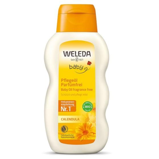 WELEDA / ВЕЛЕДА олио с невен за масаж и почистване без аромат 200 мл