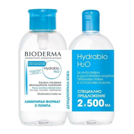 BIODERMA Hydrabio H2O мицеларна вода за суха кожа 2 x 500 мл