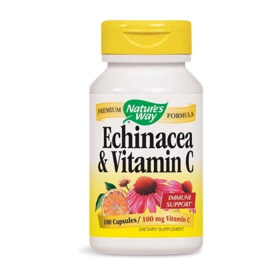 Nature's Way / Нейчърс Уей Ехинацея и Витамин C 100 капсули за имунитет