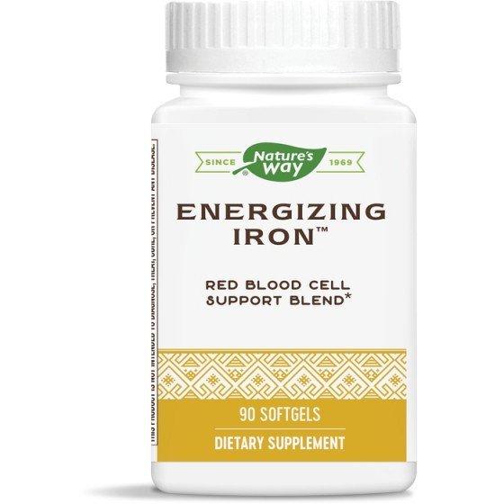 Nature's Way / Нейчърс Уей Energizing Iron 90 софтгел капсули за нормални нива на желязо в организма