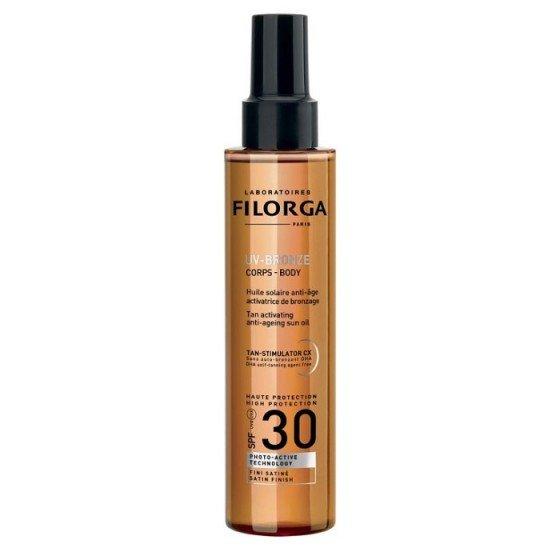 FILORGA UV Bronze Body SPF30 / ФИЛОРГА слънцезащитно сухо олио за тяло с анти ейдж действие 150 мл