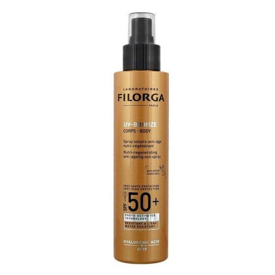 FILORGA UV Bronze Body SPF50 / ФИЛОРГА слънцезащитно сухо олио за тяло с анти ейдж действие 150 мл