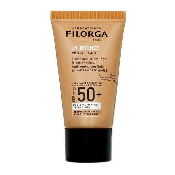 FILORGA UV Bronze Face SPF50 / ФИЛОРГА слънцезащитен флуид за лице за корекция на бръчки и пигментни петна 40 мл