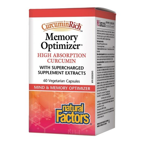 Natural Factors Memory Optimizer 60 капсули за памет и фокус