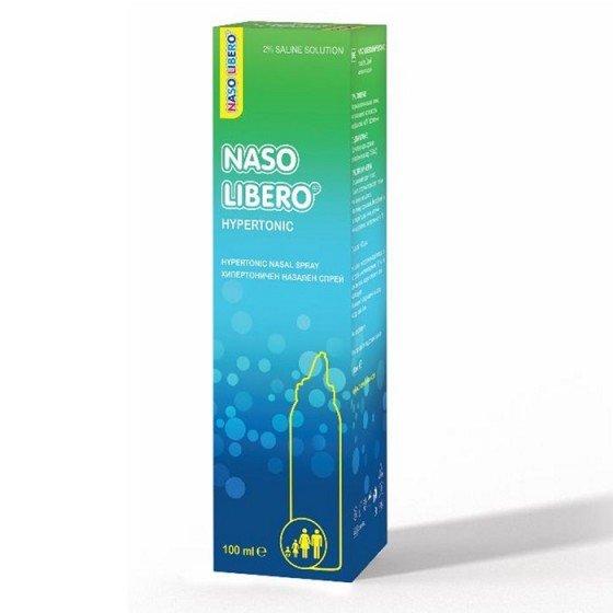 NASO LIBERO HYPERTONIC / НАЗО ЛИБЕРО хипертоничен спрей за нос 2% NaCl 100 мл