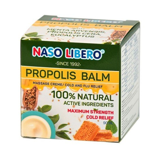 NASO LIBERO PROPOLIS BALM / НАЗО ЛИБЕРО балсам за разтривки с прополис 90 мл