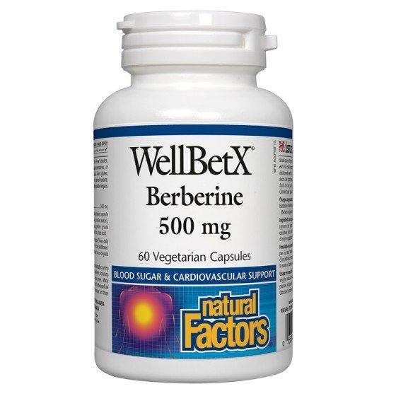 NATURAL FACTORS / НАТУРАЛ ФАКТОРС Берберин 500 мг x 60 V капсули