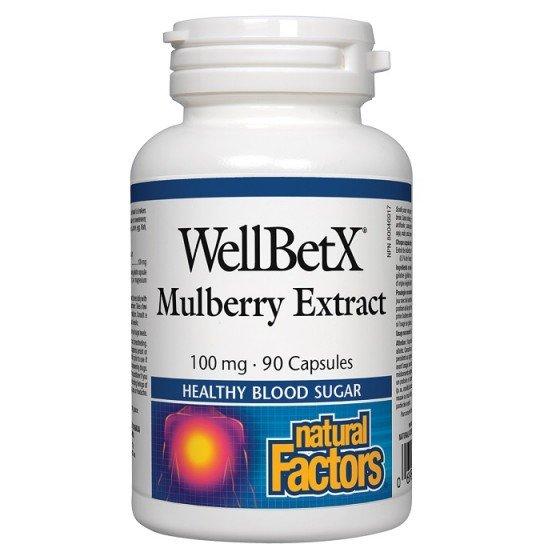 NATURAL FACTORS / НАТУРАЛ ФАКТОРС Бяла черница (екстракт) 100 мг х 90 капсули