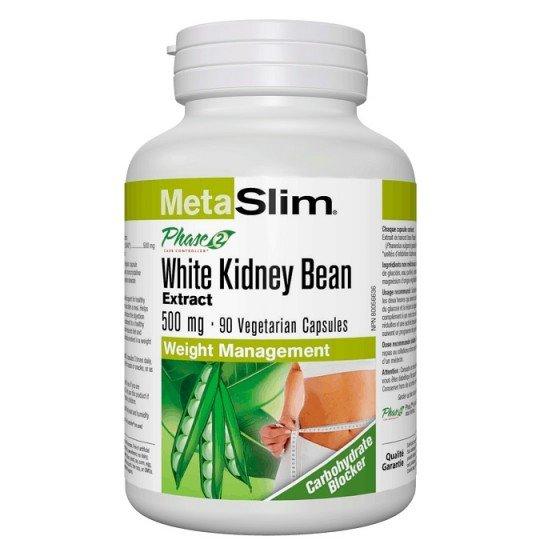 NATURAL FACTORS / НАТУРАЛ ФАКТОРС MetaSlim Phase 2® Въглехидрат блокер 500 мг x 90 V капсули
