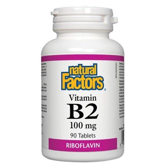 NATURAL FACTORS / НАТУРАЛ ФАКТОРС Витамин B2 100 мг x 90 таблетки