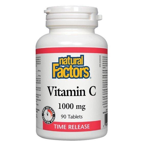 NATURAL FACTORS / НАТУРАЛ ФАКТОРС Витамин C 1000 мг (с удължено освобождаване) и биофлавоноиди х 90 таблетки