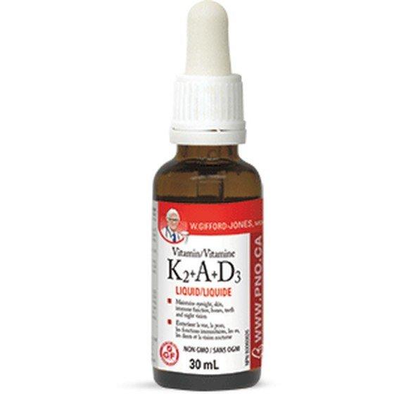 NATURAL FACTORS / НАТУРАЛ ФАКТОРС Витамин K2 + А + D3 (течен) 30 мл