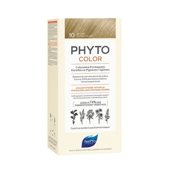 PHYTOcolor / ФИТО Боя за коса 10 екстра светло русо