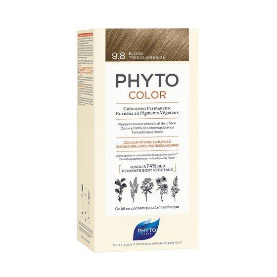 PHYTOcolor / ФИТО Боя за коса 9.8 много светло бежово русо