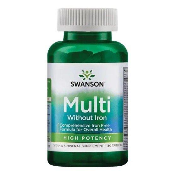 SWANSON / СУОНСЪН Мултивитамини без желязо 130 таблетки