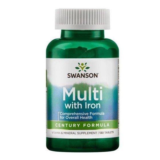 SWANSON / СУОНСЪН Мултивитамини с желязо 130 таблетки