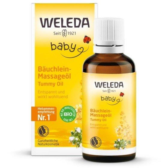 WELEDA / ВЕЛЕДА Масажно масло за коремчето на бебето 50 мл