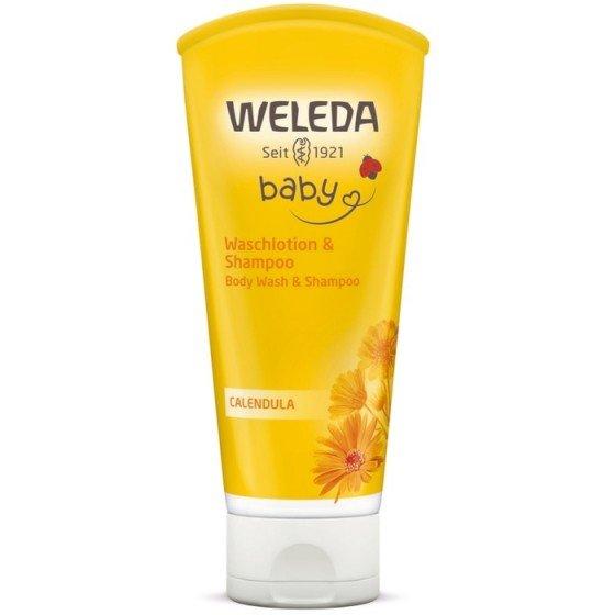 WELEDA / ВЕЛЕДА душ-гел и шампоан с невен 200 мл