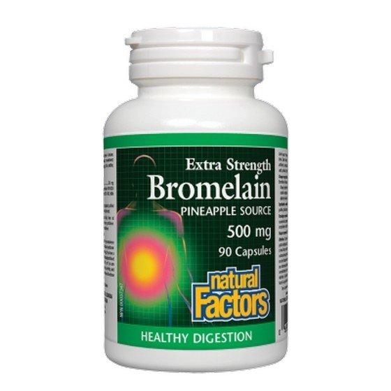 NATURAL FACTORS / НАТУРАЛ ФАКТОРС Бромелаин 500 mg, 90 капсули