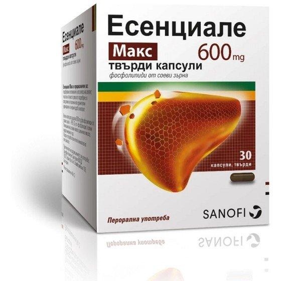 ESSENTIALE MAX / ЕСЕНЦИАЛЕ МАКС при чернодробни заболявания 600 мг 30 капсули