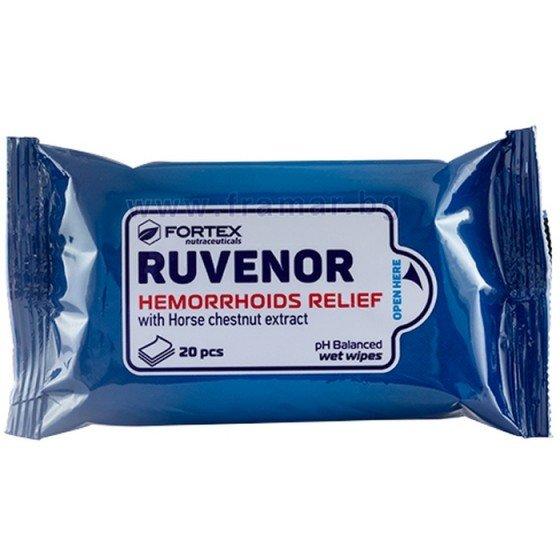 RUVENOR / РУВЕНОР мокри кърпи за хемороиди 20 бр.