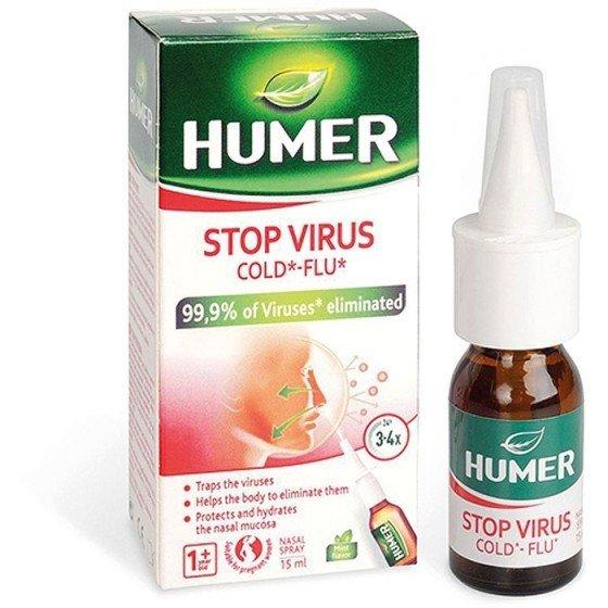 HUMER Stop Virus / ХЮМЕР Стоп вирус спрей за нос 15 мл