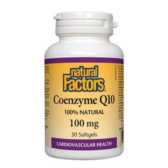 NATURAL FACTORS / НАТУРАЛ ФАКТОРС Коензим Q10 100 mg, 30 софтгел капсули
