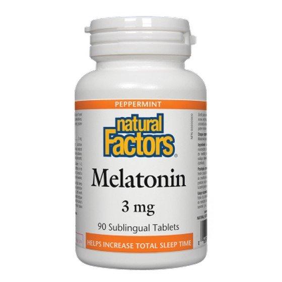 NATURAL FACTORS / НАТУРАЛ ФАКТОРС Мелатонин 3 mg, 90 таблeтки