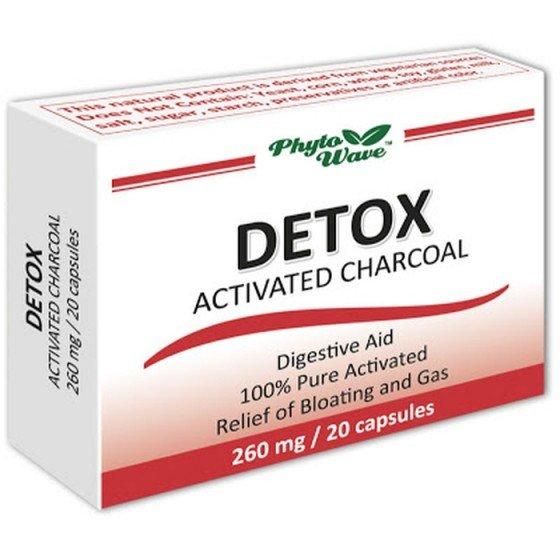 DETOX CARBO ACTIVATUS / АКТИВЕН ВЪГЛЕН 260 мг 20 капсули