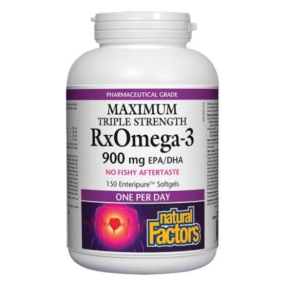 NATURAL FACTORS / НАТУРАЛ ФАКТОРС RX Omega-3 Maximum Triple Stength 1425 mg, 150 софтгел капсули