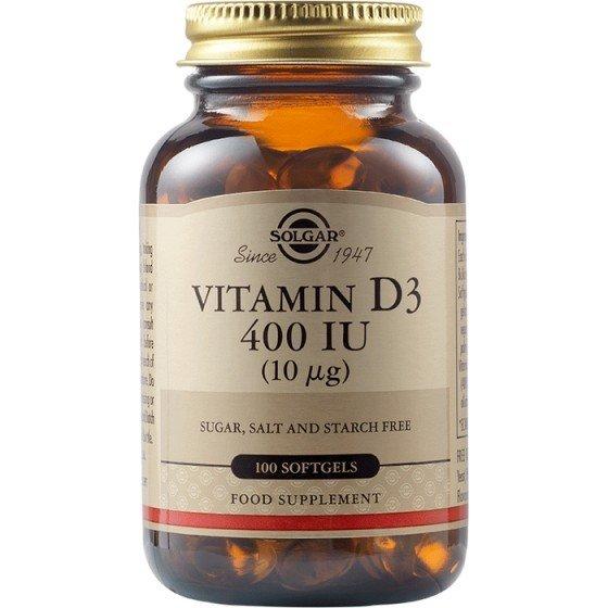 Solgar / Солгар Витамин D3 400 IU, 100 меки капсули