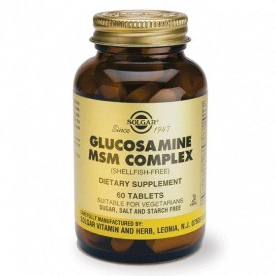 Solgar / Солгар Глюкозамин, МСМ, Комплекс 60 Таблетки