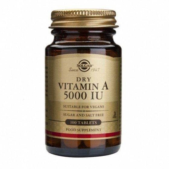 Solgar / Солгар Витамин A 5000IU 100 Таблетки