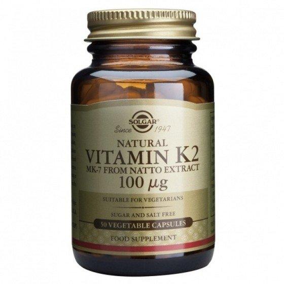 Solgar / Солгар Vitamin K2 100мкг 50 Капсули