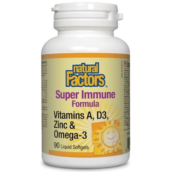 NATURAL FACTORS / НАТУРАЛ ФАКТОРС Super Immune Formula, 90 софтгел капсули