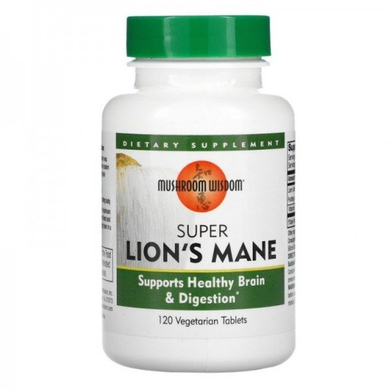 Mushroom Wisdom Super Lion s Mane/ Супер Лъвска грива, 120 V таблетки