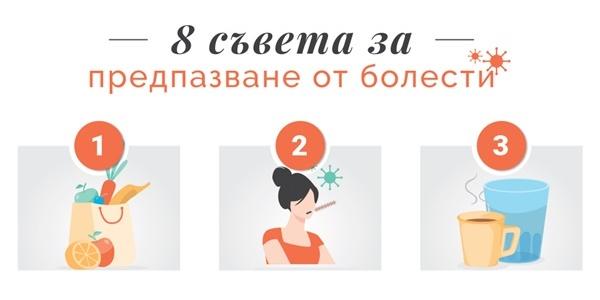 8 съвета за предпазване от болести (инфографика)