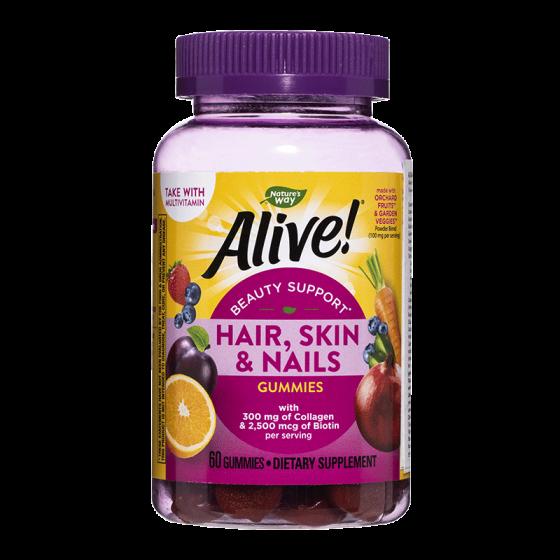 Alive / Алайв мултивитамини /коса, кожа и нокти/ Премиум формула 60 желирани таблетки