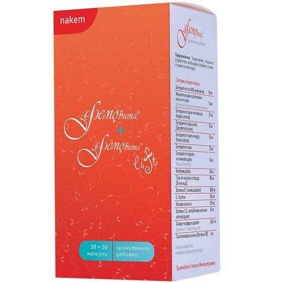 Фемовита & Фемовита Лифт: пакет нутритивна подкрепа при менопауза и пременопауза